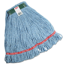 Rubbermaid FGC11206BL00 Swinger Loop Wet Mop Heads, Cotton/Synthetic, Blue, Medium