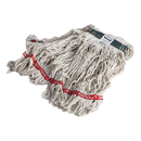 Rubbermaid FGC11206WH00 Swinger Loop Wet Mop Heads, Cotton/Synthetic, White, Medium, 6/Carton