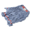 Rubbermaid FGC11306BL00 Swinger Loop Wet Mop Heads, Cotton/Synthetic, Blue, Large, 6/Carton