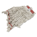 Rubbermaid FGC11306WH00 Swinger Loop Wet Mop Heads, Cotton/Synthetic, White, Large, 6/Carton