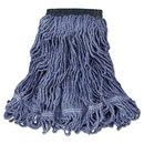 Rubbermaid RCPC152BLU Swinger Loop Wet Mop Head, Medium, Cotton/synthetic, Blue, 6/carton