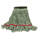 Rubbermaid FGC15206GR00 Swinger Loop Wet Mop Heads, Cotton/Synthetic Blend, Green, Medium, 6/Carton