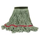 Rubbermaid FGC15206GR00 Swinger Loop Wet Mop Heads, Cotton/Synthetic Blend, Green, Medium, 6/Carton