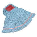 Rubbermaid FGC15306BL00 Swinger Loop Wet Mop Heads, Cotton/Synthetic, Blue, Large