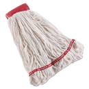 Rubbermaid FGC25306WH00 Swinger Loop Shrinkless Mop Heads, Cotton/Synthetic, White, Large, 6/CT