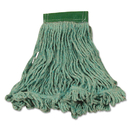 Rubbermaid FGD21206GR00 Super Stitch Blend Mop Heads, Cotton/Synthetic, Green, Medium