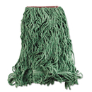 Rubbermaid FGD21306GR00 Super Stitch Blend Mop Heads, Cotton/Synthetic, Green, Large