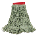 Rubbermaid FGD25306GR00 Super Stitch Blend Mop Heads, Cotton/Synthetic, Green, Large