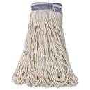 Rubbermaid RCPE139 Universal Headband Mop Head, Cotton, White, 32oz, 1