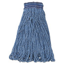 Rubbermaid RCPE238 Universal Headband Mop Head, Cotton/synthetic, 24oz, Blue, 12/carton