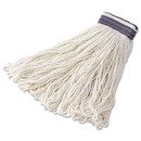 Rubbermaid Commercial RCPE43812 Looped-End Mop Head, Rayon, 24oz, White, 12/Carton