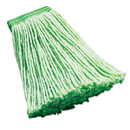 Rubbermaid FGF13600GR00 Synthetic Wet Mop Heads, Green, 16 oz, 5