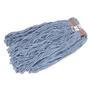 Rubbermaid FGF51700BL00 Cut-End Blend Mop Head, Cotton/Synthetic, Blue, 20 oz, 1-in. Headband, 12/Carton