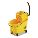 Rubbermaid FG618688YEL WaveBrake 2.0 Bucket/Wringer Combos, Side-Press, 44 qt, Plastic, Yellow