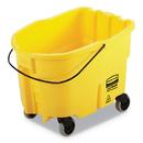 Rubbermaid 2064996 WaveBrake 2.0 Bucket, 26 qt, Plastic, Yellow