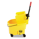 Rubbermaid FG748000YEL WaveBrake 2.0 Bucket/Wringer Combos, Side-Press, 6.5 gal, Plastic, Yellow