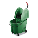 Rubbermaid FG757888GRN WaveBrake 2.0 Bucket/Wringer Combos, 8.75 gal, Down Press, Plastic, Green