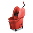 Rubbermaid FG757888RED WaveBrake 2.0 Bucket/Wringer Combos, 8.75 gal, Down Press, Plastic, Red