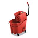 Rubbermaid FG758888RED WaveBrake 2.0 Bucket/Wringer Combos, Side-Press, 35 qt, Plastic, Red