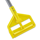 Rubbermaid RCPH146 Invader Fiberglass Side-Gate Wet-Mop Handle, 1 Dia X 60, Gray/yellow