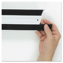 Rubbermaid FGQ18000BK00 Hook & Loop Replacement Strips, 1 1/10w x 18l, Black