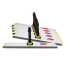 Rubbermaid RCPQ570 Hygen Quick Connect S-S Frame, Squeegee, 24w X 4 1/2d, Aluminum, Yellow