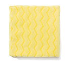 Rubbermaid RCPQ610 Reusable Cleaning Cloths, Microfiber, 16 X 16, Yellow, 12/carton