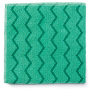 Rubbermaid RCPQ620 Reusable Cleaning Cloths, Microfiber, 16 X 16, Green, 12/carton