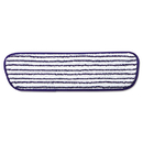 Rubbermaid RCPQ800WHI Microfiber Finish Pad, 18 X 5 1/2, Blue/white, 6/BX