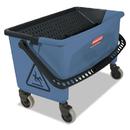 Rubbermaid FGQ93000BLUE Microfiber Finish Bucket, 27 gal, Blue
