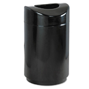 Rubbermaid RCPR2030EBK Eclipse Open Top Waste Receptacle, Round, Steel, 30gal, Black