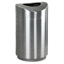 Rubbermaid RCPR2030SSPL Eclipse Open Top Waste Receptacle, Round, Steel, 30gal, Stainless Steel