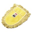 Rubbermaid FGU12000YL00 Trapper Wedge Dust Mop Head, Yellow, Looped-End, Cotton