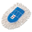 Rubbermaid RCPU130 Trapper Wedge Dust Mop Head, White, Cut-End, Cotton