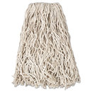 Rubbermaid RCPV117 Economy Cut-End Cotton Wet Mop Head, 20oz, 1