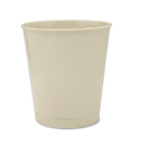 Rubbermaid RCPWB26AL Fire-Safe Wastebasket, Round, Steel, 6 1/2 Gal, Almond