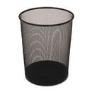 Rubbermaid FGWMB20BK Steel Mesh Wastebasket, Round, 5gal, Black, 6/Carton