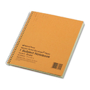 Rediform RED33004 Subject Wirebound Notebook, Narrow Rule, 8 1/4 X 6 7/8, Green, 80 Sheets