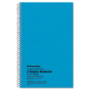 Rediform RED33360 3 Subject Wirebound Notebook, College Rule, 6 X 9 1/2, White, 150 Sheets