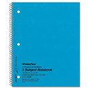 REDIFORM OFFICE PRODUCTS RED33386 3 Subject Wirebound Notebook, College Rule, 11 X 8 7/8, White, 150 Sheets