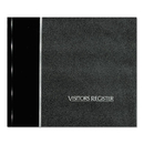 REDIFORM OFFICE PRODUCTS RED57802 Visitor Register Book, Black Hardcover, 128 Pages, 8 1/2 X 9 7/8