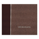 REDIFORM OFFICE PRODUCTS RED57803 Visitor Register Book, Burgundy Hardcover, 128 Pages, 8 1/2 X 9 7/8