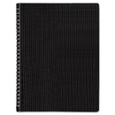 Blueline REDB4181 Poly Cover Notebook, 8 1/2 X 11, Ruled, Twin Wire Bound, Black Cover, 80 Sheets