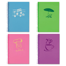 Roaring Spring ROA12531 Lifenotes Notebook, College Rule, 7 X 5, 80 Sheets, , Assorted Covers, 4 /pack