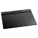 ELDON OFFICE PRODUCTS ROL62540 Wood Tone Desk Pad, Black, 21 X 18