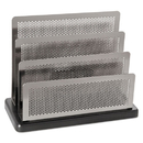 ELDON OFFICE PRODUCTS ROLE23572 Mini Sorter, Three Stepped Sections, 7 1/2 X 3 1/2 X 5 3/4, Metal/black