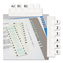 REDI-TAG CORPORATION RTG31005 Side-Mount Self-Stick Plastic A-Z Index Tabs, 1 Inch, White, 104/pack