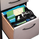 Rubbermaid RUB11916ROS Hanging Desk Drawer Organizer, Plastic, Black