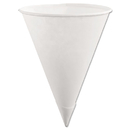 Rubbermaid RUB2B41WHICT Paper Cone Cups, 6oz, White, 200/Pack, 12 Packs/Carton