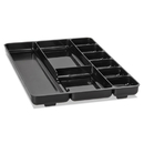 Rubbermaid RUB45706 Regeneration Nine-Section Drawer Organizer, Plastic, Black
